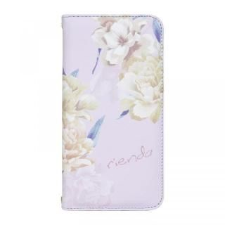 iPhone XS Max ケース rienda 全面 手帳型ケース Layer Flower/パープル iPhone XS Max【4月上旬】