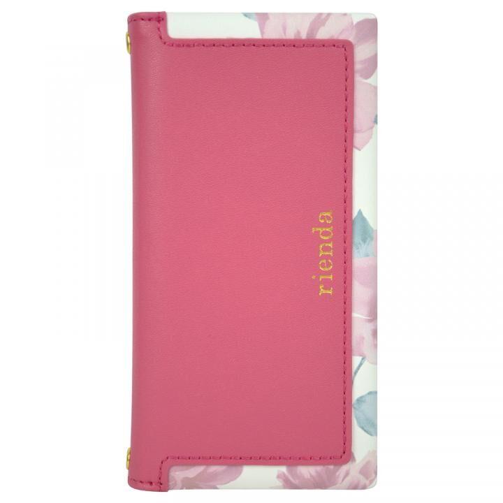 iPhone8/7/6s/6 ケース rienda スクエア 手帳型ケース Lace Flower/ピンク iPhone SE 第2世代/8/7/6s/6_0