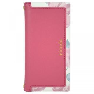 iPhone SE 第2世代 ケース rienda スクエア 手帳型ケース Lace Flower/ピンク iPhone SE 第2世代/8/7/6s/6