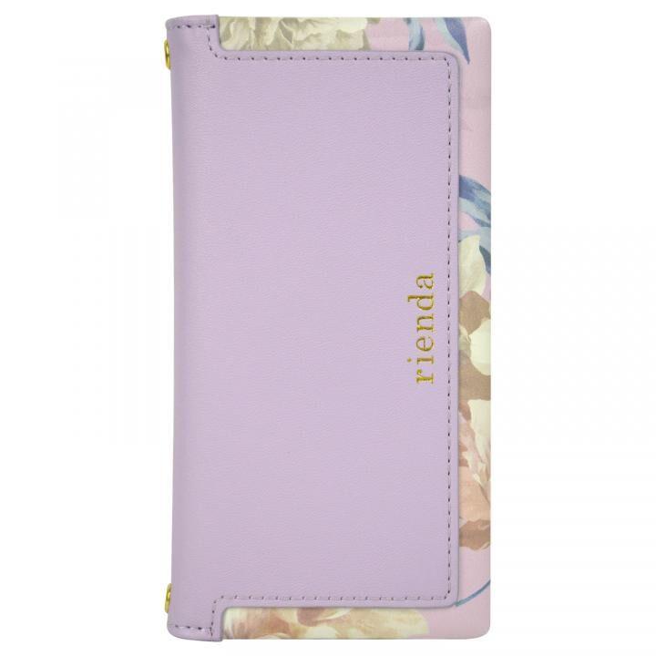 iPhone8/7/6s/6 ケース rienda スクエア 手帳型ケース Layer Flower/パープル iPhone 8/7/6s/6_0