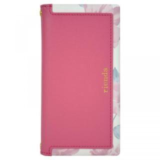 iPhone XS/X ケース rienda スクエア 手帳型ケース Lace Flower/ピンク iPhone XS/X