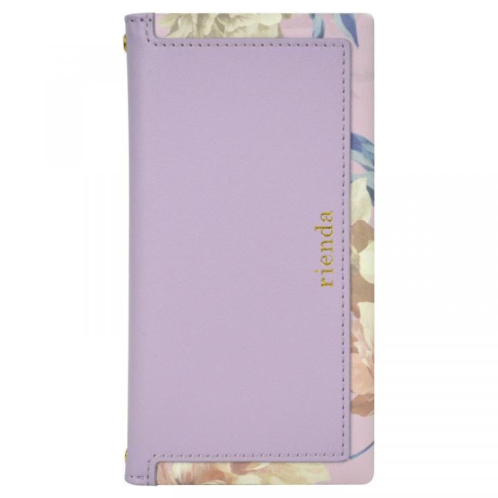 iPhone XR ケース rienda スクエア 手帳型ケース Layer Flower/パープル iPhone XR【11月下旬】_0