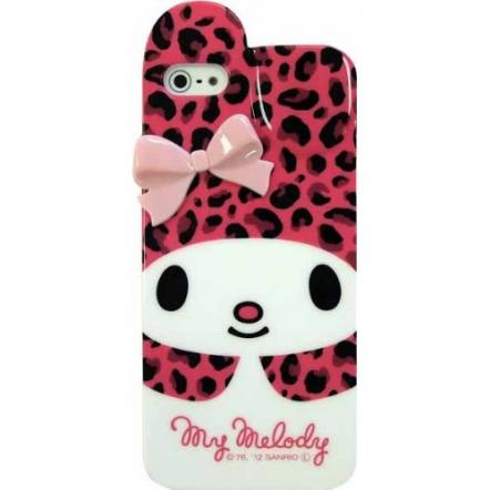 マイメロディ ソフトケース ヒョウ柄ピンク iPhone 5 ケース