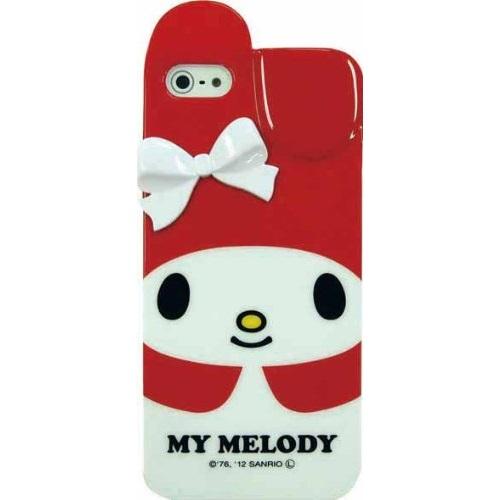 マイメロディ ソフトケース レッド iPhone 5 ケース