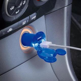 USBソケット MAX2.4A/ミッキーマウス