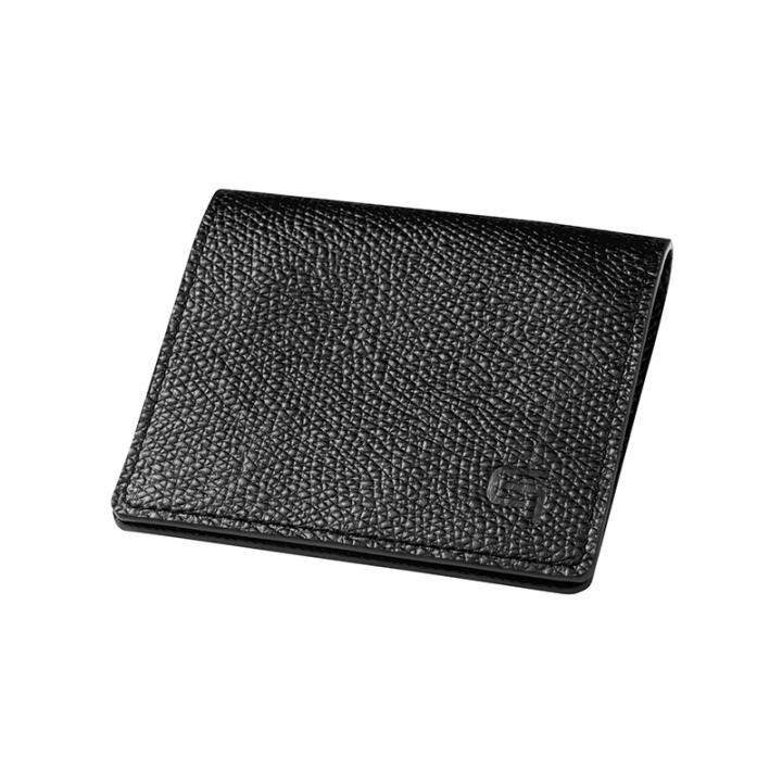 GRAMAS Money Clip Coin Case Black×Black_0