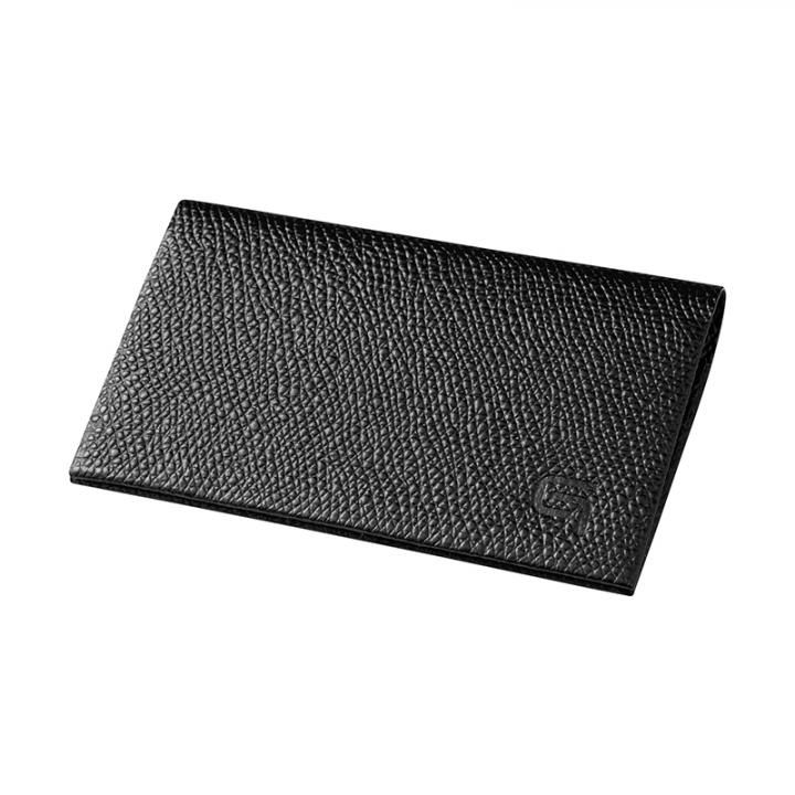 GRAMAS HAAWASE Card Case Black×Black_0