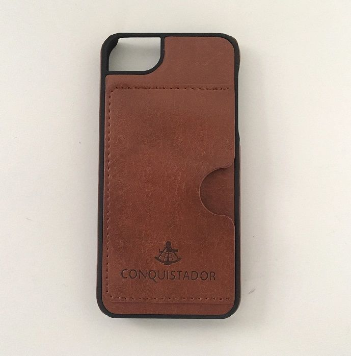 CONQUISTADOR PALMA ケース ダークブラウン iPhone SE/5s/5