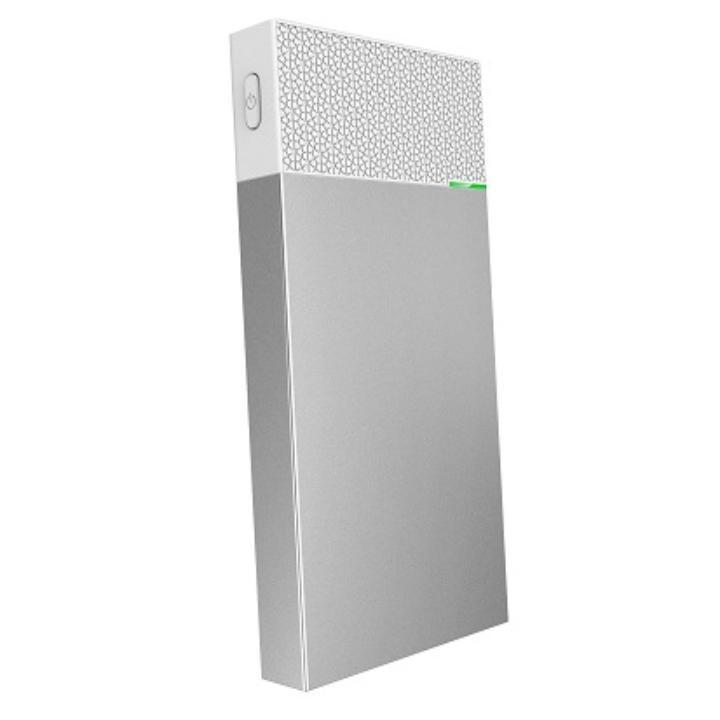 [10000mAh]USB Type-Cケーブルで本体充電可能 モバイルバッテリー シルバー