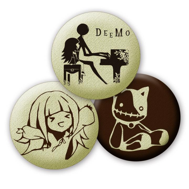 DEEMO 布製缶バッジ3個セット vol.2_0