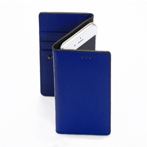 お財布付き手帳型ケース araree Z-folder ブルー+ブラック iPhone 6