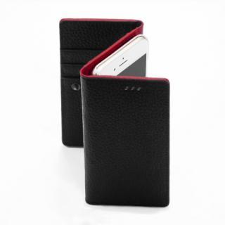 お財布付き手帳型ケース araree Z-folder ブラック+レッド iPhone 6s/6