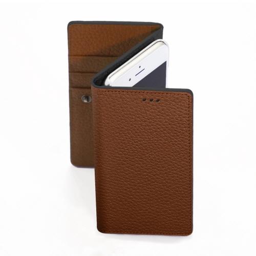 【iPhone6ケース】お財布付き手帳型ケース araree Z-folder ブラウン+ブラック iPhone 6_0
