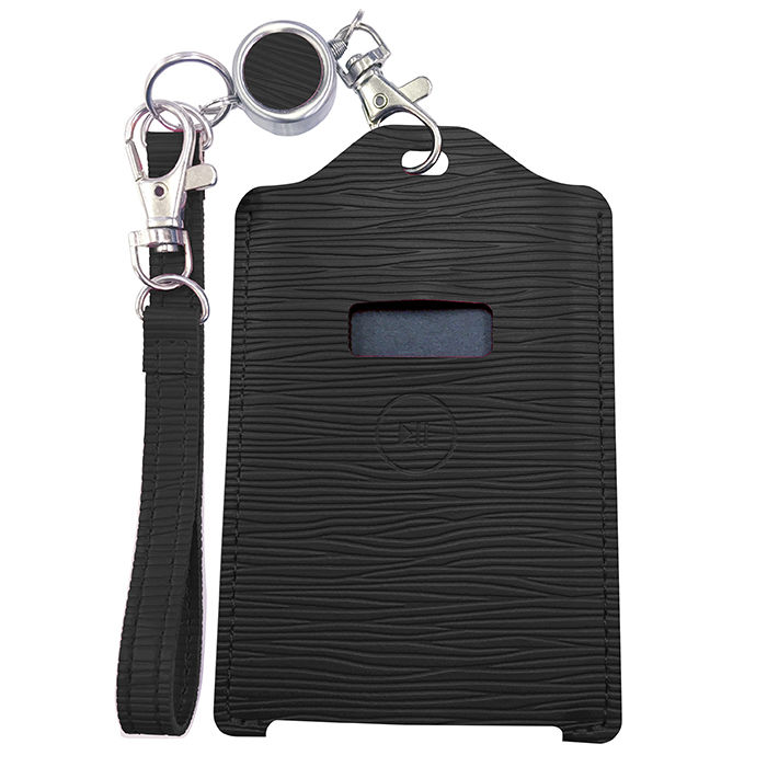電子マネー 残高表示機能付パスケース miruca Plus(ミルカプラス)専用レザーカバー ブラック_0