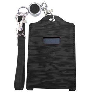 電子マネー 残高表示機能付パスケース miruca Plus(ミルカプラス)専用レザーカバー ブラック