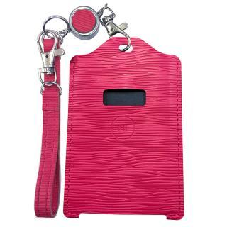 電子マネー 残高表示機能付パスケース miruca Plus(ミルカプラス)専用レザーカバー ピンク