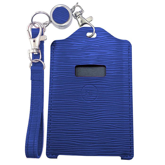 電子マネー 残高表示機能付パスケース miruca Plus(ミルカプラス)専用レザーカバー ブルー_0