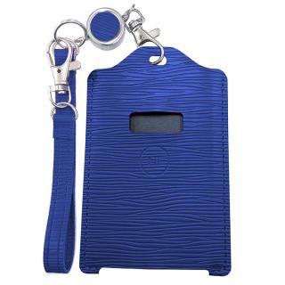電子マネー 残高表示機能付パスケース miruca Plus(ミルカプラス)専用レザーカバー ブルー
