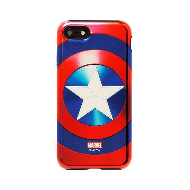 iPhone7 ケース MARVEL Design ハイブリッド メタリックケース キャプテン・アメリカ ブルー iPhone 7_0