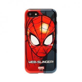 MARVEL Design ハイブリッド メタリックケース スパイダーマン iPhone 7