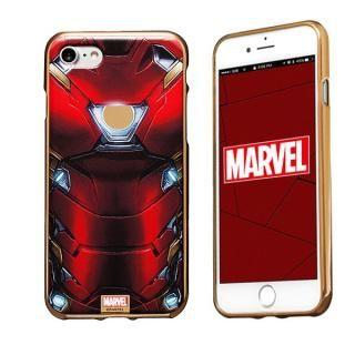 MARVEL Design ソフトTPU メタリック塗装ケース アイアンマン iPhone 8/7