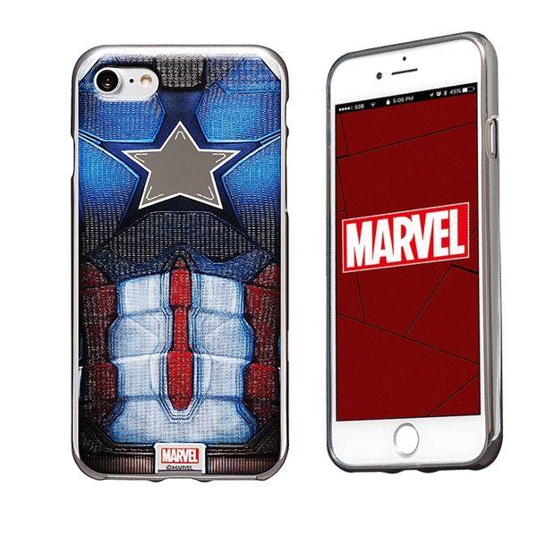 MARVEL Design ソフトTPU メタリック塗装ケース キャプテン・アメリカ iPhone 8/7