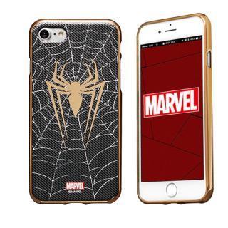 MARVEL Design ソフトTPU メタリック塗装ケース スパイダーマン iPhone 7