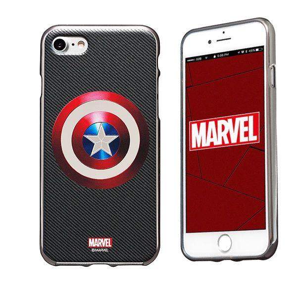 iPhone8/7 ケース MARVEL Design ソフトTPU メタリック塗装ケース キャプテン・アメリカ:シールドS iPhone 8/7_0