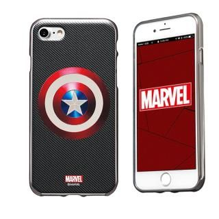 MARVEL Design ソフトTPU メタリック塗装ケース キャプテン・アメリカ:シールドS iPhone 7