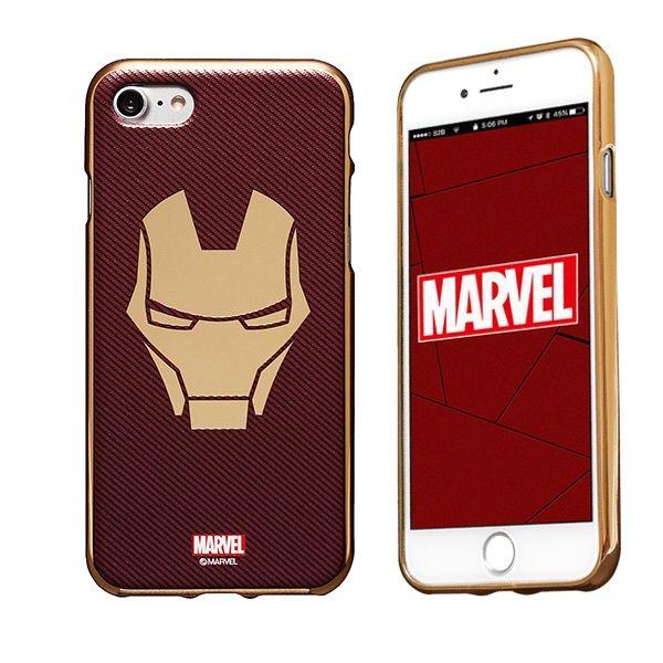 iPhone8/7 ケース MARVEL Design ソフトTPU メタリック塗装ケース アイアンマン:マスク iPhone 8/7_0