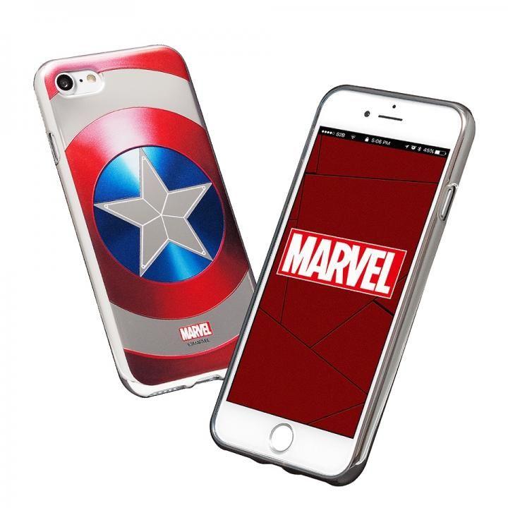 iPhone8/7 ケース MARVEL Design ソフトTPU メタリック塗装ケース キャプテン・アメリカ:シールド iPhone 8/7_0