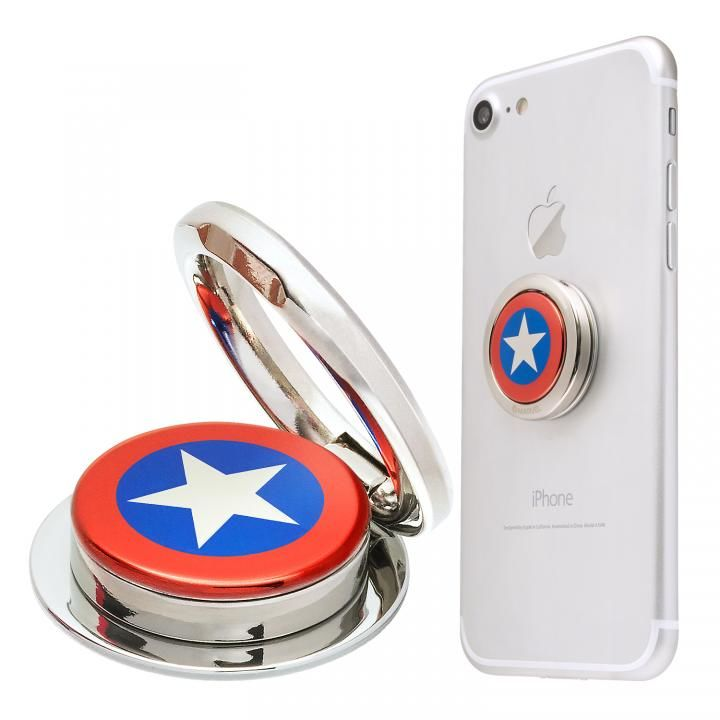 MARVEL Design Ring マーベルヒーロー 落下防止用リング キャプテン・アメリカ_0