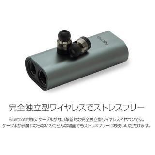 超小型・完全ワイヤレスイヤホン Beat-in Power Bank ローズゴールド_2