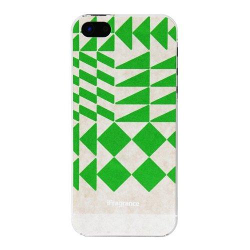 iPhone SE/5s/5 ケース iFragrance 香りを付けられるiPhone SE/5s/5ケース POLYGON GREEN_0
