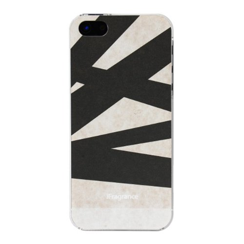 iPhone SE/5s/5 ケース iFragrance 香りを付けられるiPhone SE/5s/5ケース SLASH BLACK_0