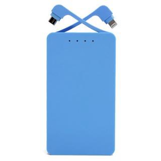 [8400mAh]MicroUSBとLightningコネクタ内蔵 モバイルバッテリー ENERGY duo ブルー