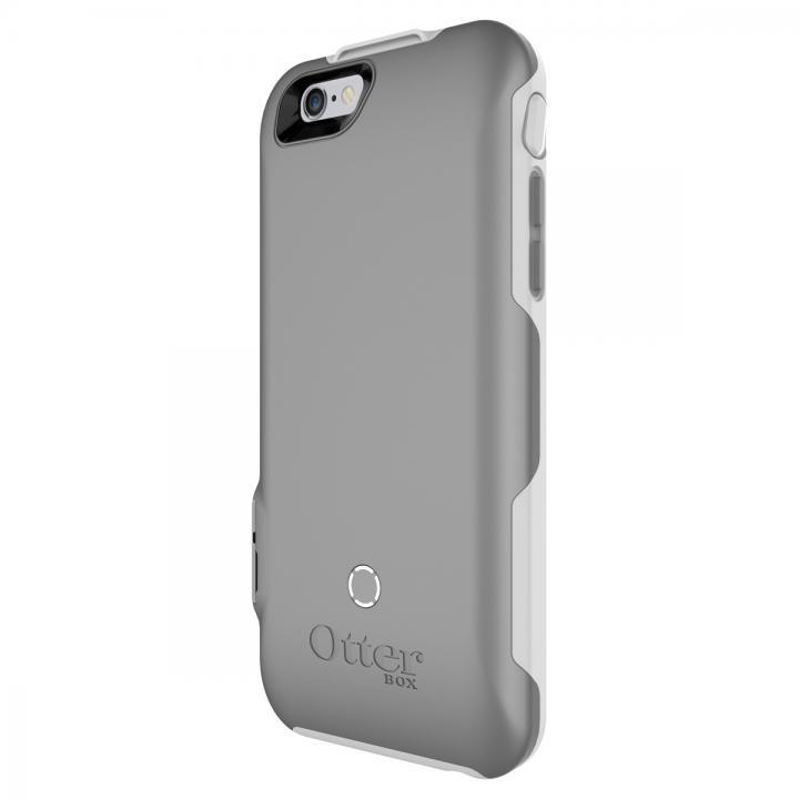 【iPhone6ケース】耐落下衝撃バッテリー内蔵ケース OtterBox Resurgence ホワイト/ガンメタルグレー iPhone 6_0