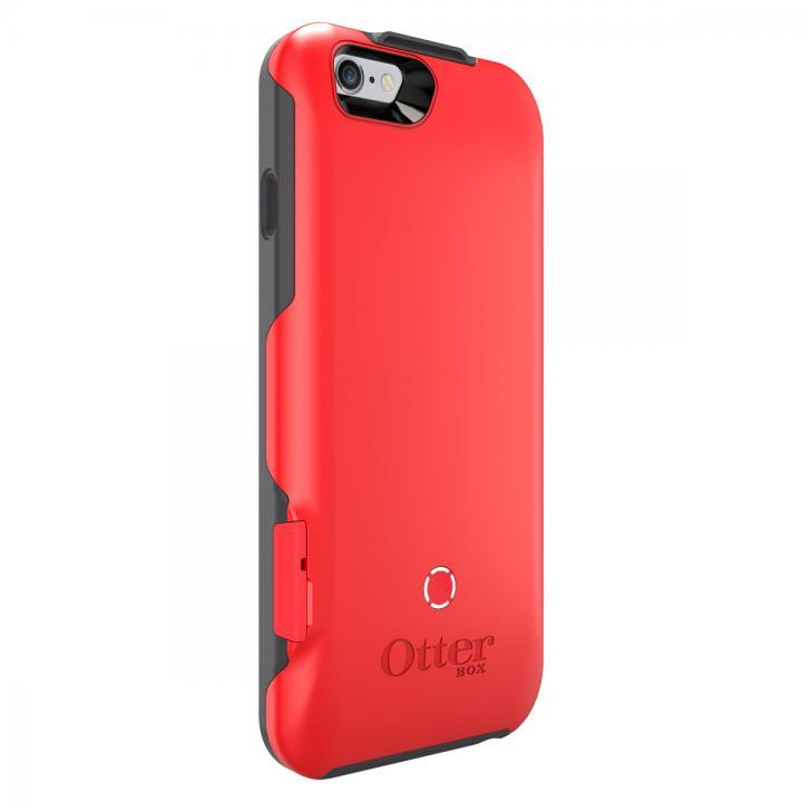 耐落下衝撃バッテリー内蔵ケース OtterBox Resurgence スレートグレー/スカーレットレッド iPhone 6
