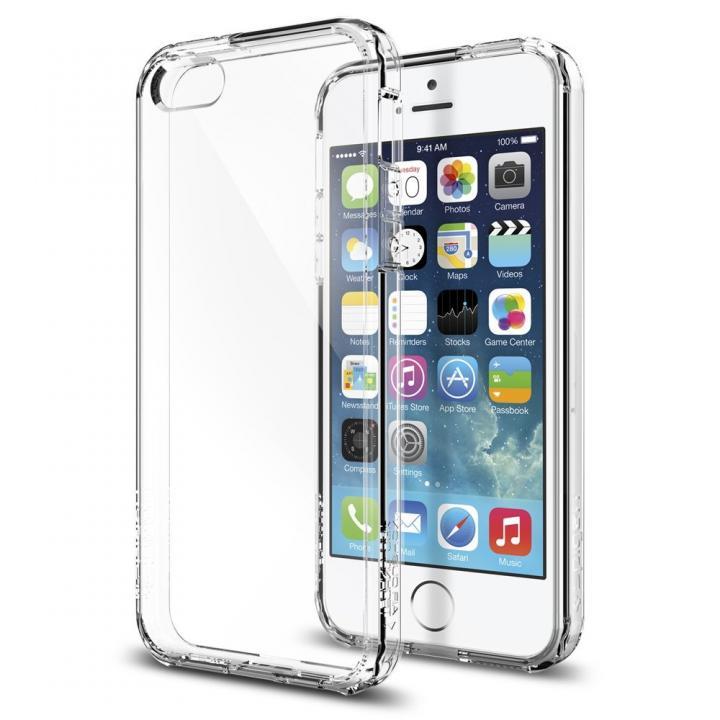 【iPhone SE/5s/5ケース】Spigen ウルトラハイブリッド クリスタルクリアケース iPhone SE/5s/5_0
