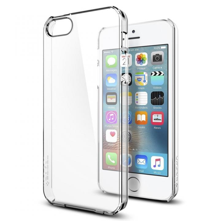 Spigen 薄型 クリスタルクリアケース iPhone SE/5s/5