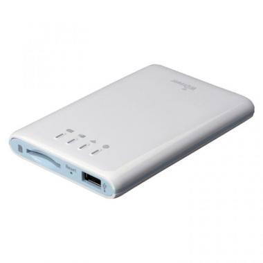 スマホ充電機能付 Wi-Fi SDカードリーダー ホワイト