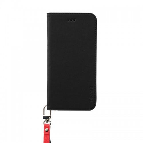 【iPhone6sケース】araree canvas イタリアンPUレザー手帳型ケース ブラック iPhone 6s/6_0