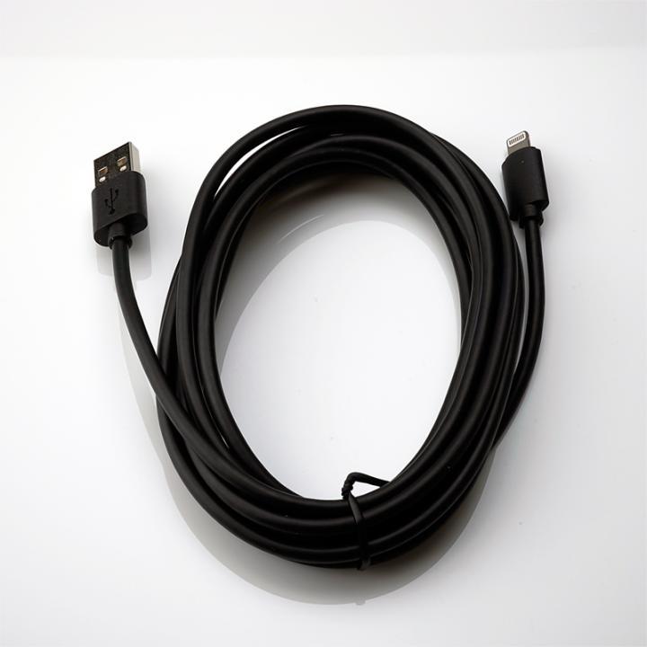 [3m]Apple認証取得のLightningケーブル 3m ブラック_0