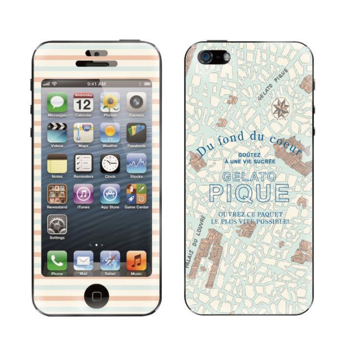 【iPhone SE/5s/5ケース】【iPhone 5】 GELATO PIQUE Map Print_0