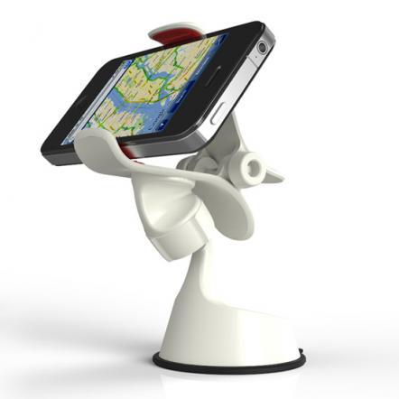 EXOGEAR 最大5.5インチのスマートフォン対応ホルダー exomount2 ホワイト