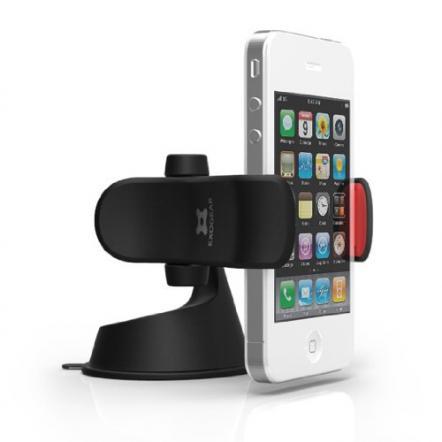 EXOGEAR 最大5.5インチのスマートフォン対応ホルダー exomount2 ブラック