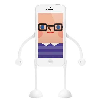 dealize社製iPhone SE/5s/5用デザインフィギュアケース(ホワイト)appitoz