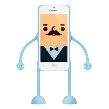 dealize社製iPhone SE/5s/5用デザインフィギュアケース(ブルー)appitoz