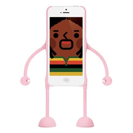 dealize社製iPhone SE/5s/5用デザインフィギュアケース(ピンク)appitoz