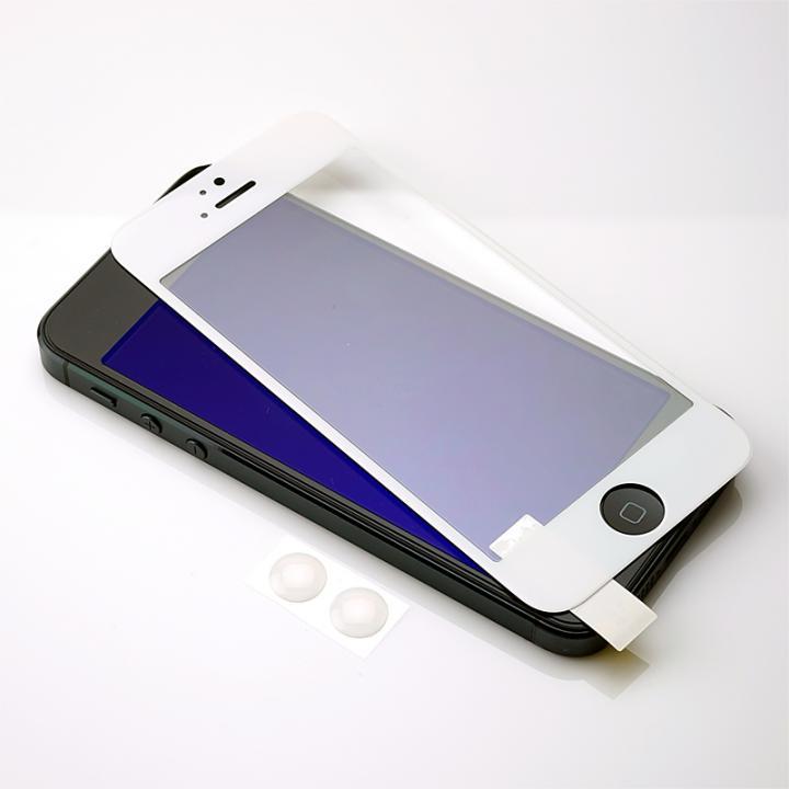 iPhone SE/5s/5 フィルム [0.3mm] PRO GUARD CRYSTAL GLASS ラウンドエッジ強化ガラス ホワイトフェース_0